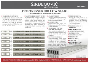 FLYER - PRESTRESSED HOLLOW SLABS-60minutes