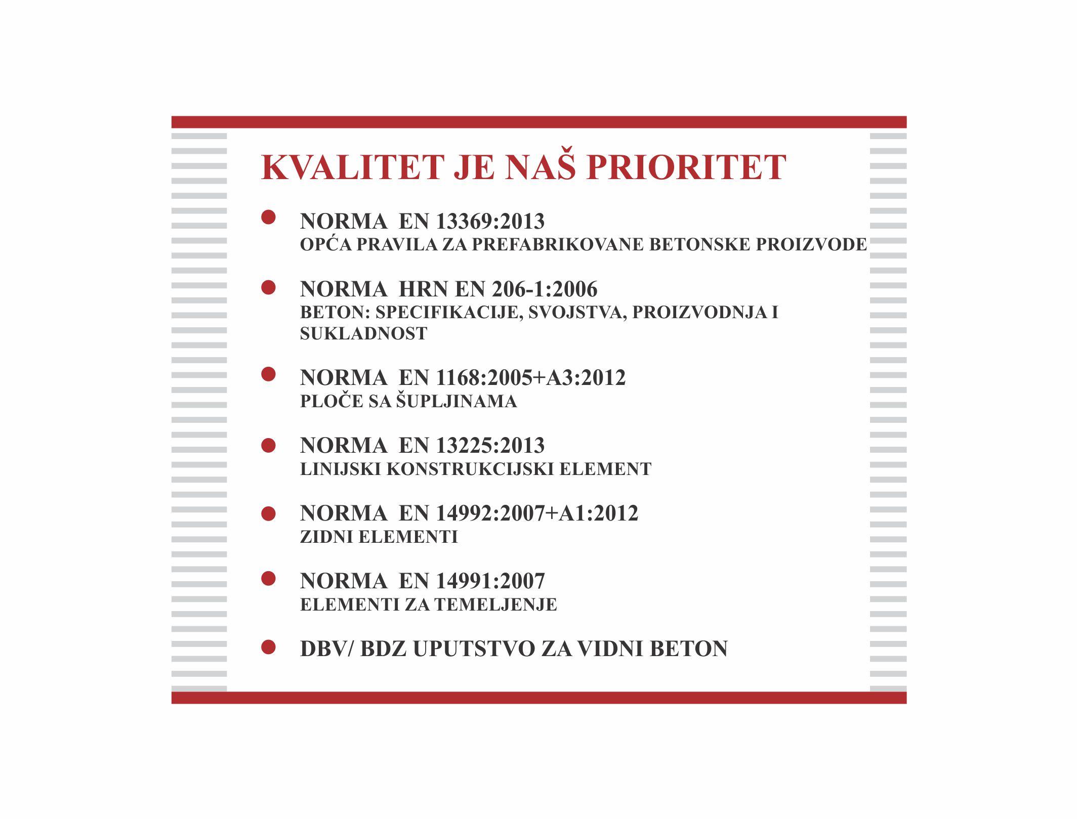 Uručen EU certifikat za čvrstoću betona MB85