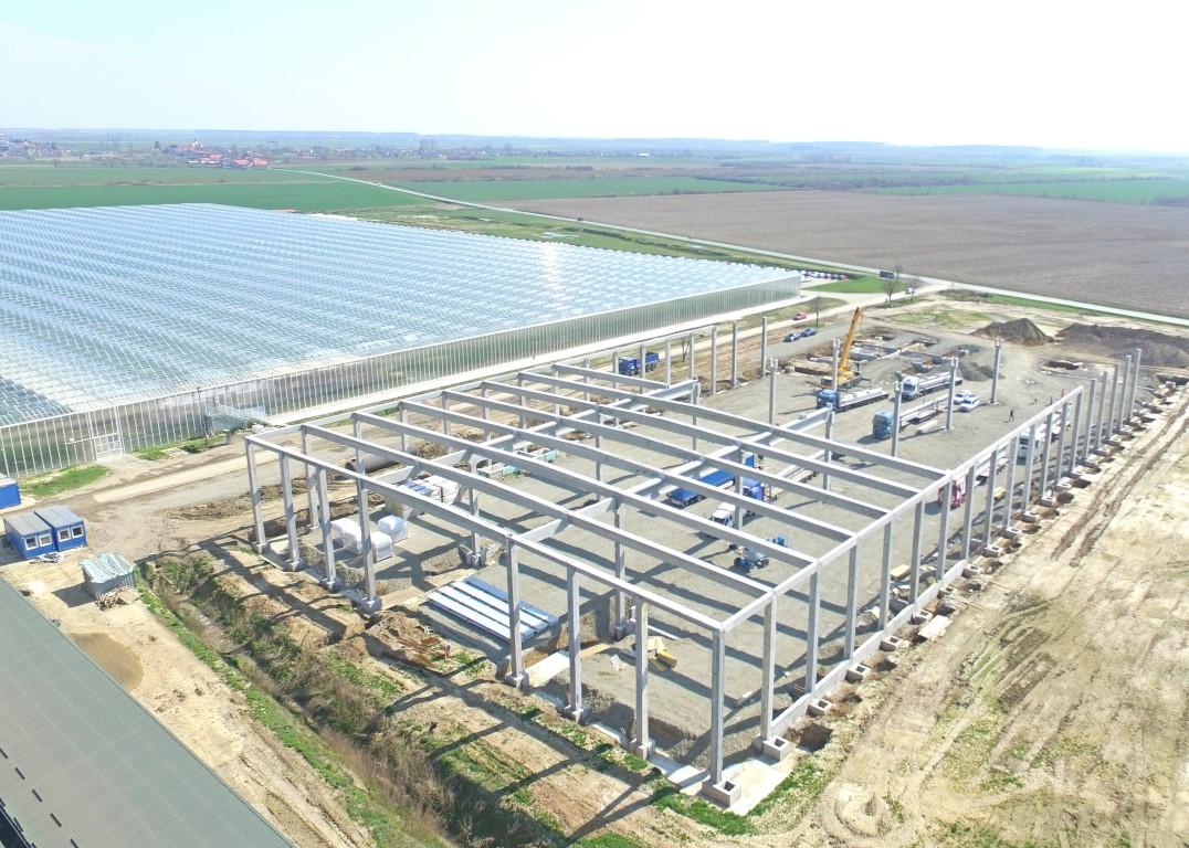 U toku je montaža AB konstrukcije na objektu Osatina Grupa u Đakovu, Hrvatska,  površine cca 10.300 m2.
